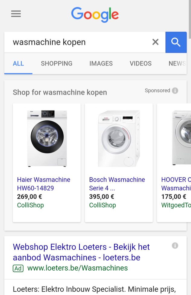 Mobile Marketing - micro moments - wasmachine