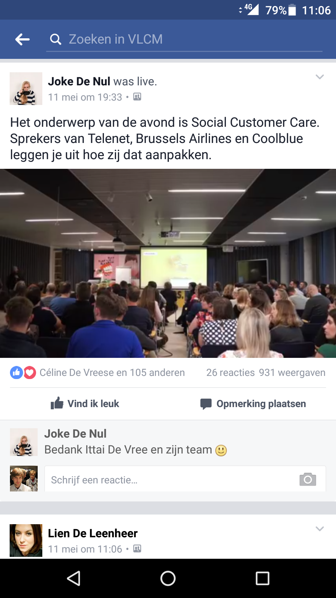 Facebook Live op Mobile