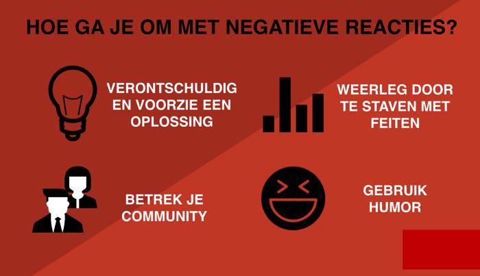 Hoe ga je om met negatieve reacties?