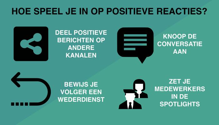 Hoe speel je in op positieve reacties?