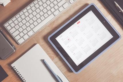 contentkalender opmaken