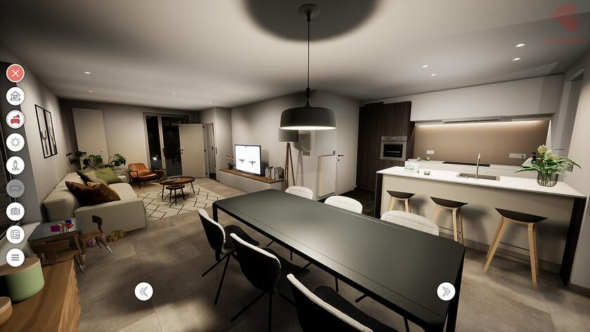 Bostoen Virtual Reality woning eetkamer