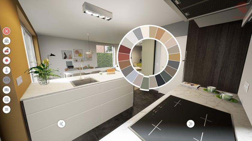 Bostoen Virtual Reality woning keuken configurator