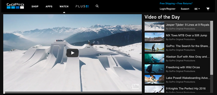 Content marketing : GoPro video of the day