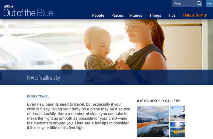 Content marketing : JebBlue Baby's