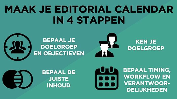Een editorial calendar in 4 stappen
