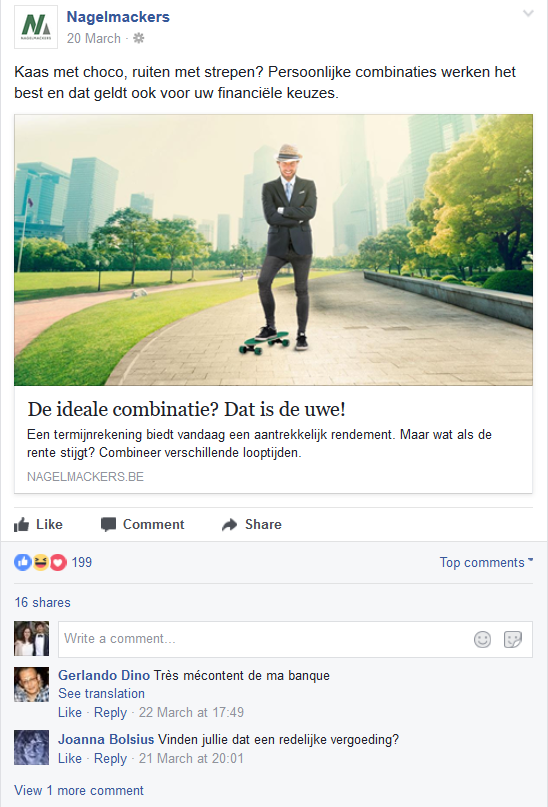 Facebookpost Nagelmackers