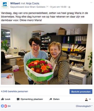 Willaert Boomkwekerij Voorbeeld Facebookbericht