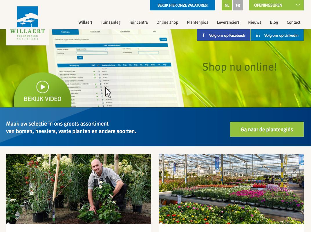 Willaert Boomkwekerij Vernieuwde website