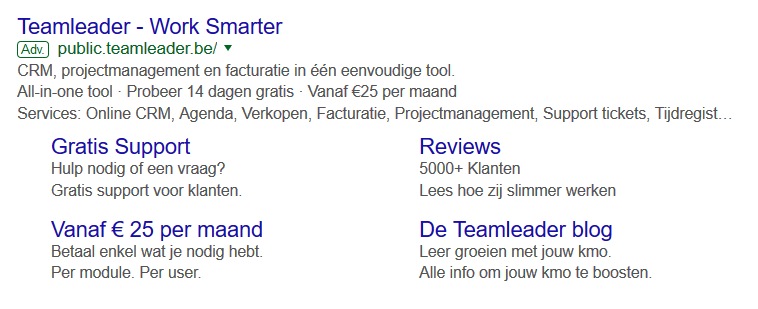 Teamleader Google Advertising