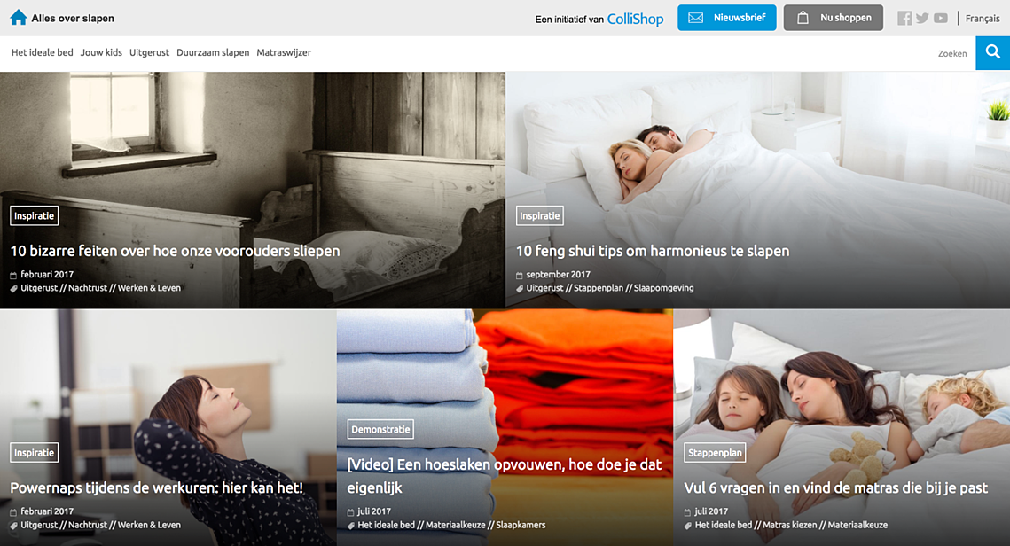 Collishop slapen website