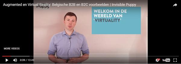 Augmented reality en virtual reality in Beglië