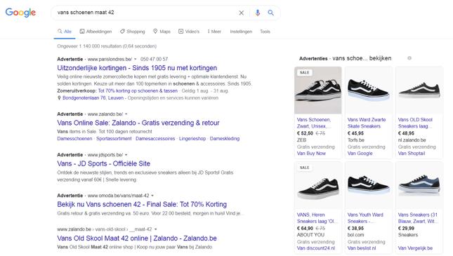 Google-zoekresultaten-pagina-vans-schoenen
