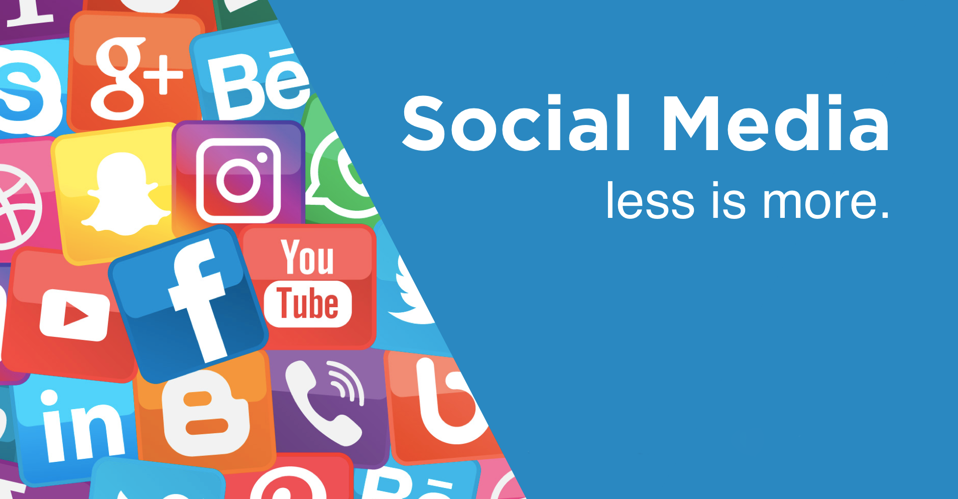 Social media, less is more
