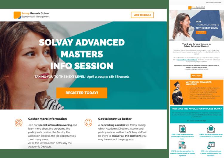Solvay - Voorbeelden van emails en landing pages