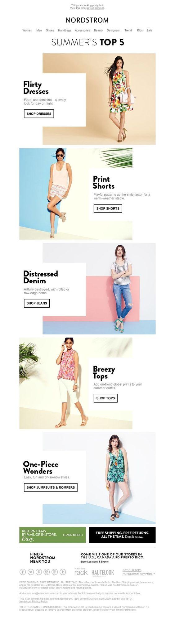Email-design-zigzag-model-nordstrom