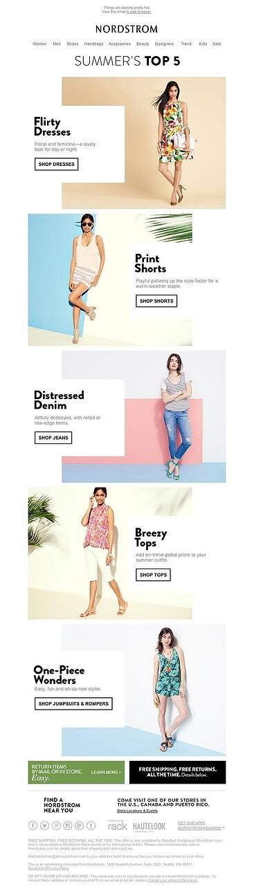 Email-design-zigzag-model-nordstrom