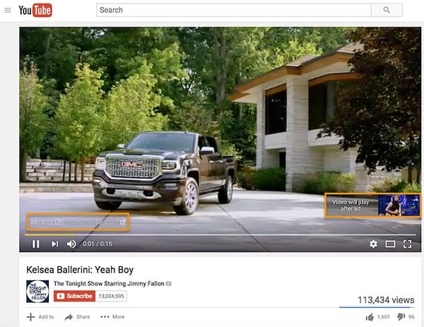non skippable reclame youtube
