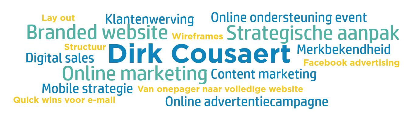 Wordcloud Dirk Cousaert