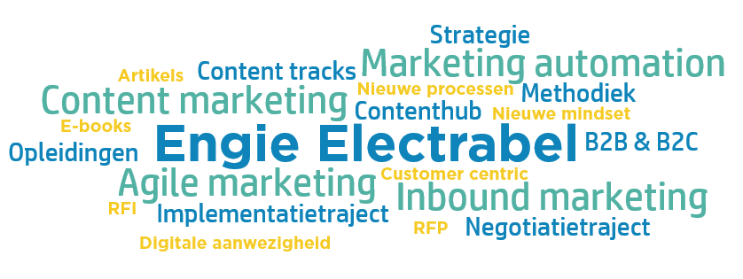 Wordcloud ENGIE Electrabel - Invisible Puppy Case