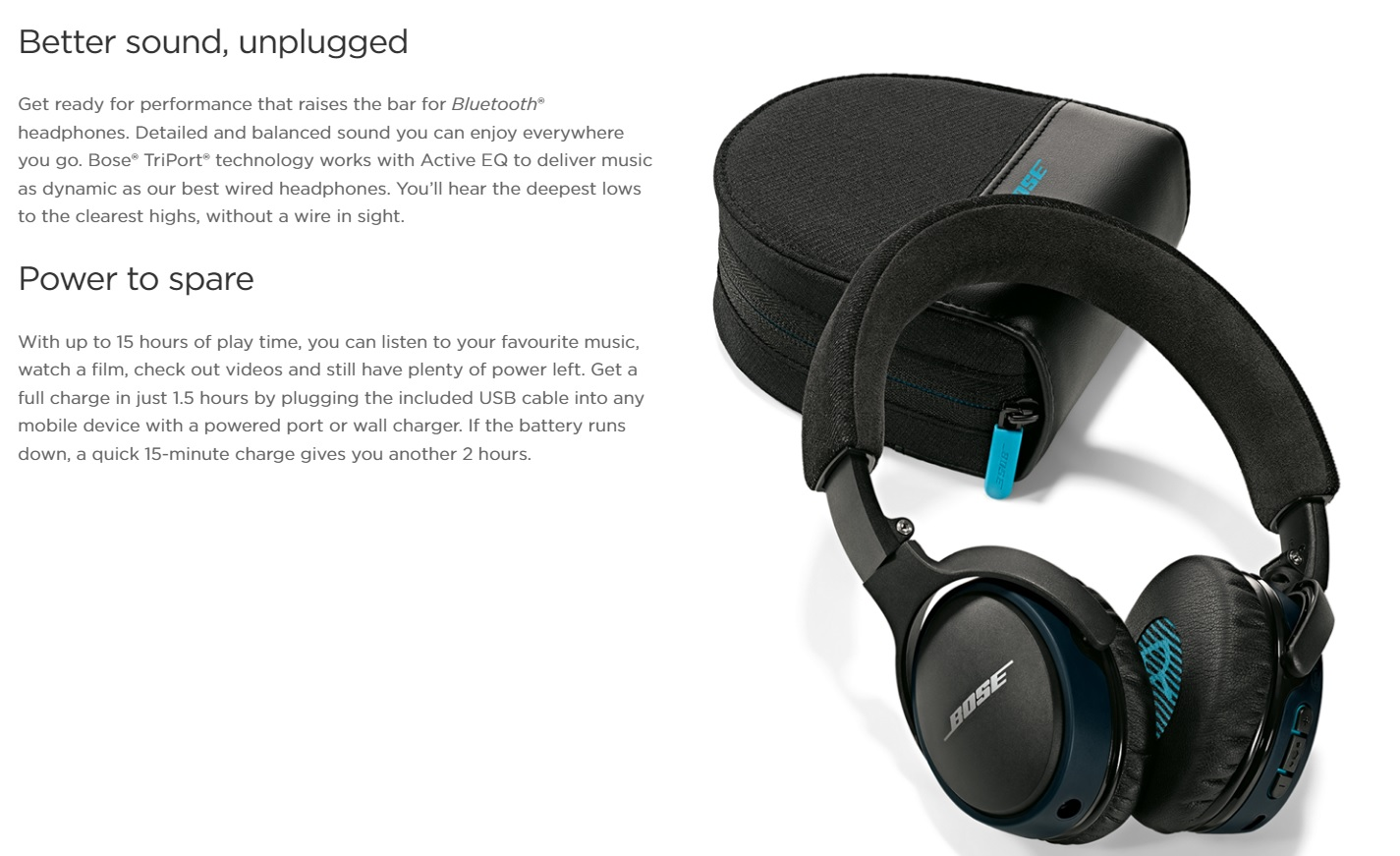 Bose product pagina's Case