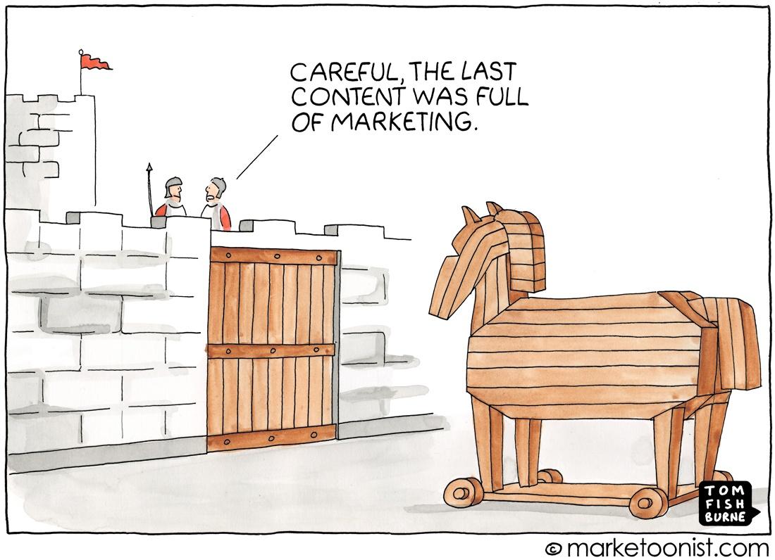 Marketoonist: Trojan Horse marketing