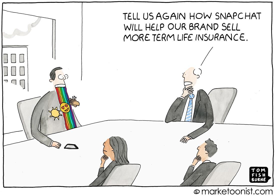 Marketoonist: Snapchat Marketing